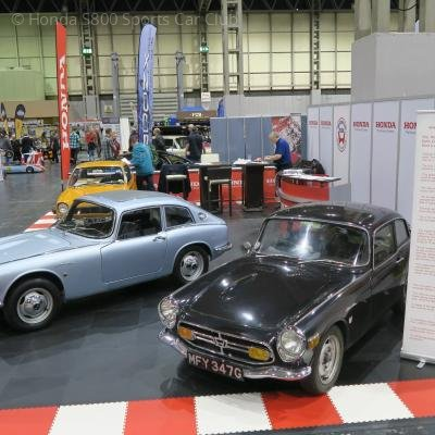 The Club stand at the NEC Classic Car Show
